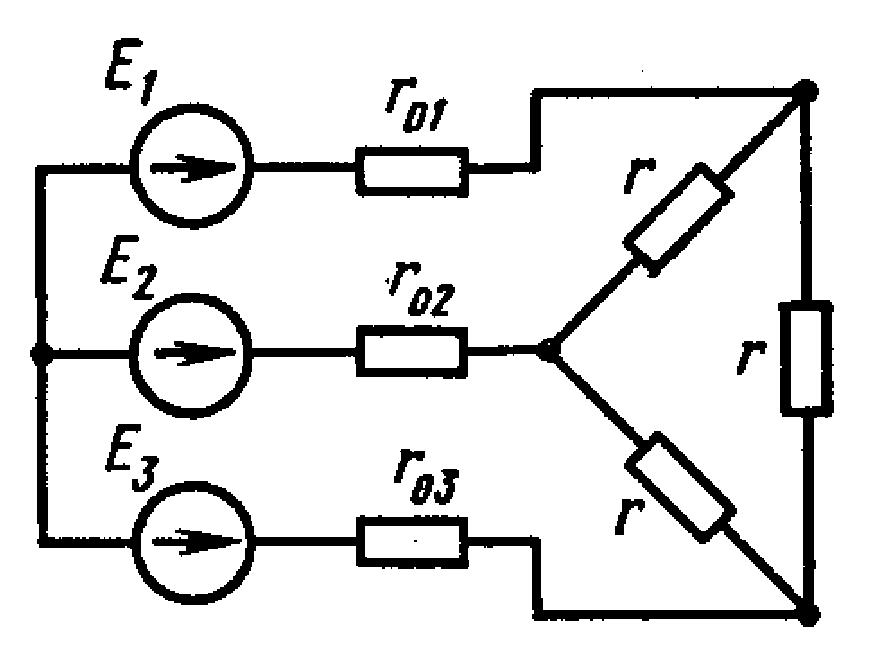 ТОГУ Контрольная работа по электротехнике Вариант Задачи  При решении задачи воспользоваться преобразованием треугольника сопротивлений в эквивалентную звезду